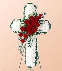 Floral Cross Funeral Arrangement