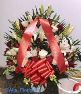 Funerals Basket Roses 001 Floral Design