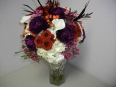Funky Feathers Bridal Bouquet