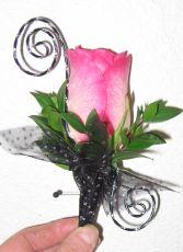 funky flower  boutonnier