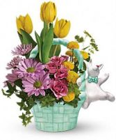 Funny Bunny Arrangement Happy Spring Arrangment