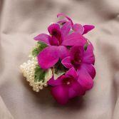Fuchsia Dedrobium Wristlet Corsage
