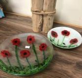 these poppies are a favourite all year handmade serving dishes