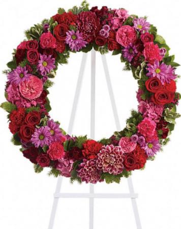 Fusha, red and purple wreath Wreath