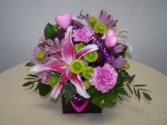 Fushia Explosion Brown cube arrangement