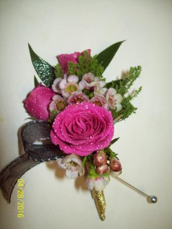 Fushia Forever Prom Boutonniere