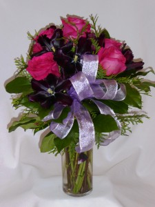 FUSHIA & PURPLE FAVORITES- Roses Gifts Teddy Bears Roses, Flowers