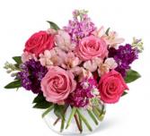 Fusion Pinks bouquet  Vase