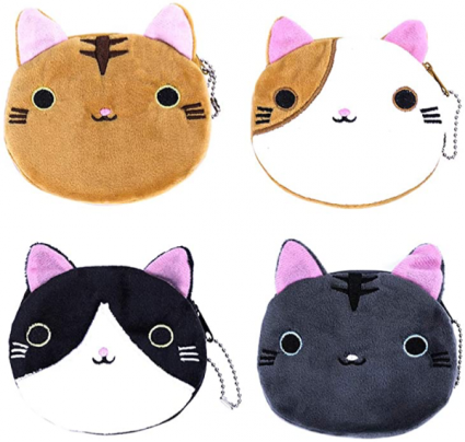 Fuzzy Cat Change Purse, sold by each