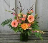 Fuzzy Feelings Fresh flower arrangement in a vase