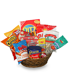 SALTY SNACKS BASKET Gift Basket in Abbotsford, BC | BUCKETS FRESH FLOWER MARKET