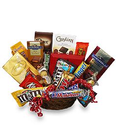 CHOCOLATE LOVERSu0027 BASKET Gift Basket  sc 1 st  Flowers by Richard NYC & CHOCOLATE LOVERSu0027 BASKET Gift Basket in New York NY - FLOWERS BY ...