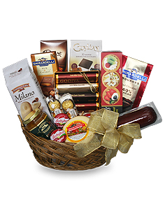 GOURMET BASKET Gift Basket in Santa Barbara, CA | Lily's Flowers And Fruity Florets