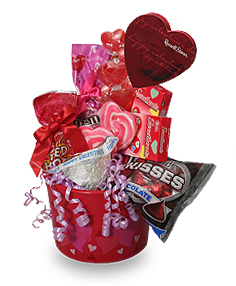 SWEETHEART CANDY PAIL Gift Basket in Mobile, AL | ZIMLICH THE FLORIST