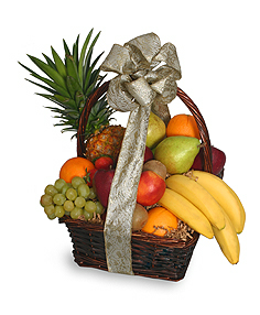 Festive Fruit Basket Gift Basket in Croton On Hudson, NY | Cooke's Little Shoppe Of Flowers
