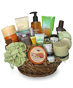 PAMPER ME BASKET Gift Basket in Phenix City, AL | BUDS & BLOOMS FLORIST