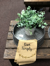 small galvanized metal tray