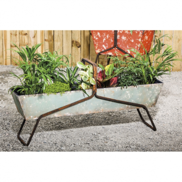 Galvanized Trough on a stand