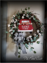 Game Day Wreath Faux Silver Dollar Eucalyptus Wreath 24