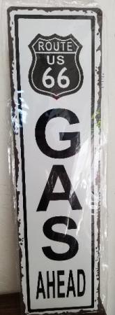 GANZ metal wall plaque Route 66 Gas ahead