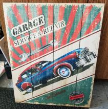 GANZ Wooden wall plaque Garage Service