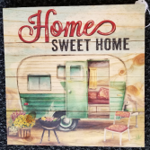 GANZ Wooden wall plaque Home sweet home