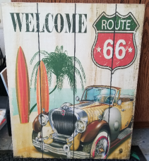GANZ Wooden wall plaque Welcome Route 66