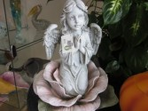 Garden Angel on Rose Statue Gift Items