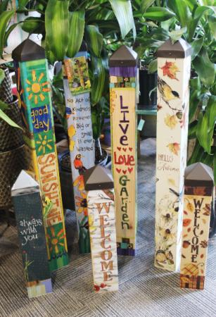 Garden Art Poles Garden Art Poles