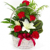 Garden Basket with Fresh Flowers