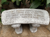 Garden Bench Sympathy Keepsake
