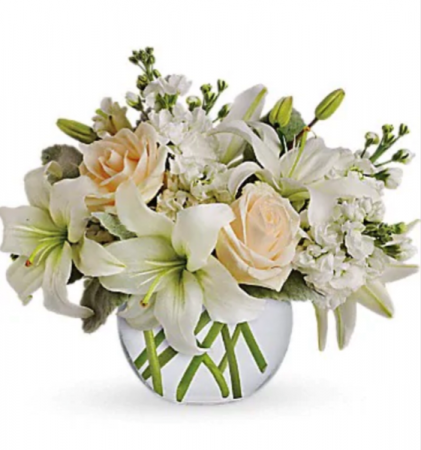 Garden blooms and blossoms   Vase