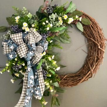Garden Blues Wreath