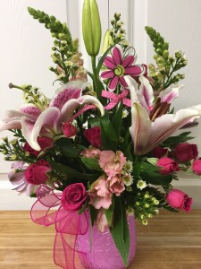 Sweet Thoughts Arrangement Of Lilies And Spray Roses