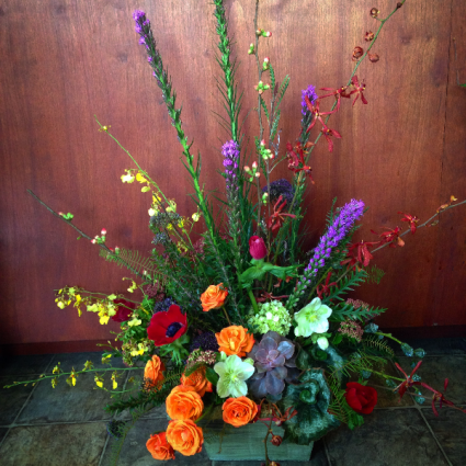 Garden Box Sympathy Arrangement