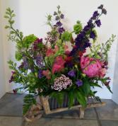 Garden Cart Blooms Wildflower