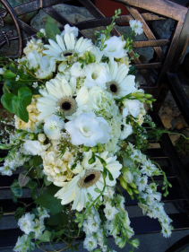 Garden cascade bouquet Wedding