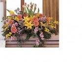 GARDEN CASKET SPRAY FUNERAL FLOWERS