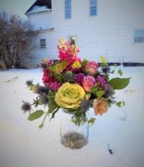 Garden Charm Bouquet Vase arrangment