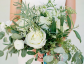 Garden creams and whites Brides bouquet