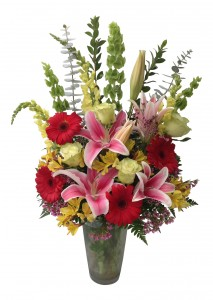 Garden Delight Vase Arrangement in Seguin, TX | DIETZ FLOWER SHOP & TUXEDO RENTAL