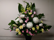 Garden Delight Sympathy Container Arrangement
