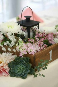 Garden delights Wedding Reception Flowers
