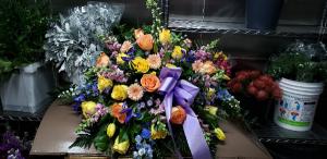 Garden Departure Casket Spray in Port Huron, MI | CHRISTOPHER'S FLOWERS
