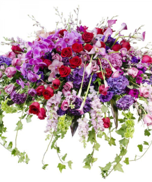 Garden Elegance Casket Spray Sympathy Flowers in Croton On Hudson, NY | Cooke's Little Shoppe Of Flowers