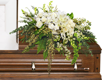 Garden Elegance Casket Spray Funeral Flowers In Arcadia Fl The - The-elegance-of-the-arcadia