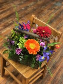 Garden Floral Tote Fresh Flower Arrangement