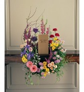 Garden Flower Wreath Memorial Urn Surround