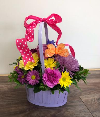 Garden fresh Basket arrangement