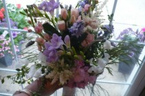 Garden Fresh Bridal Bouquet Natural Stems Wrapped
